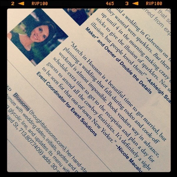 So excited to be in Houston Bride's Magazine!