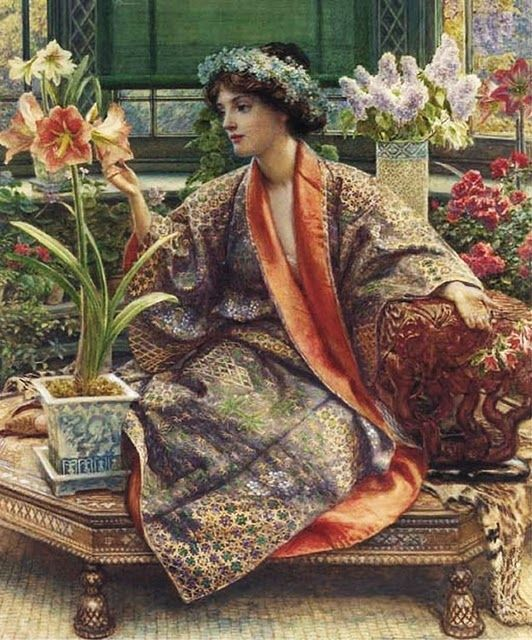 Hot-House Flower - Edward John Poynter: Paintings Flowers, John Poynter, Houses, Hot House Flowers, Art, Sir Edward, Edward John, Hothouse Flowers, Edward Poynter