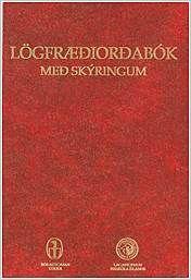 Mynd af Lögfræðiorðabók m/skýringum sem fæst í Bóksölu Úlfljóts, Lögbergi