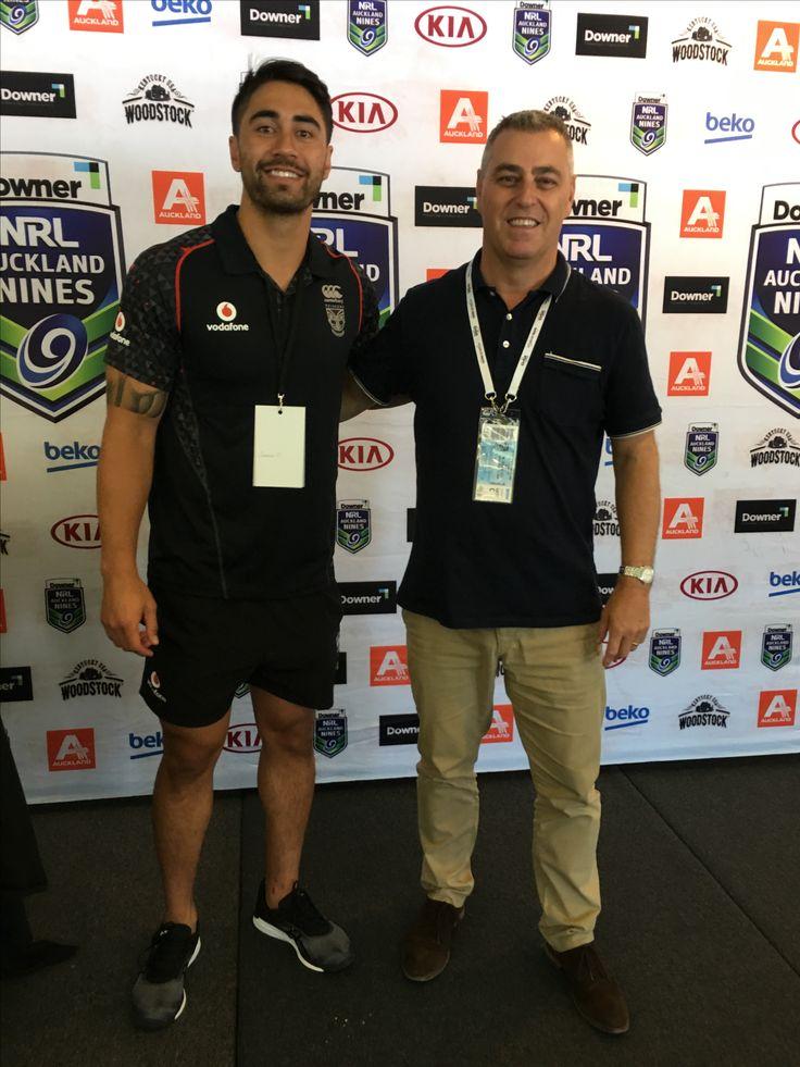 With Shaun Johnson ( Warriors)