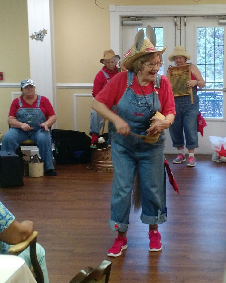 The Rap and Tap Hillbilly Band from the Senior Center in