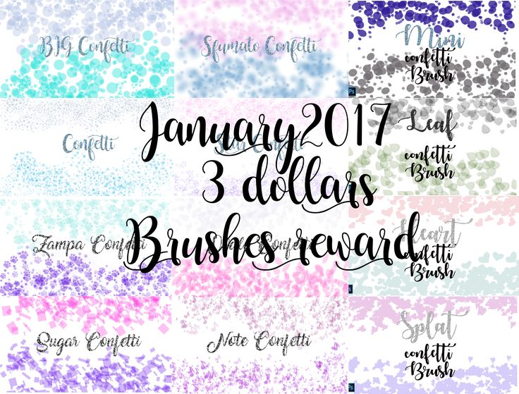Preview of the 3 dollars brushes january reward!