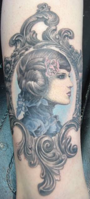 Saw this and thought what an awesome tattoo idea only with a picture of my grandmother.