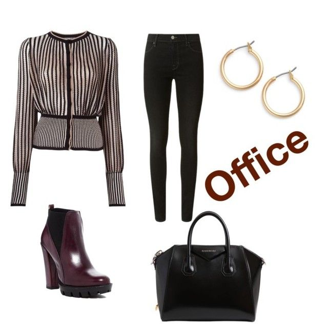 """""""Office"""" by fpantopikou on Polyvore featuring Alexander McQueen, J Brand, Nordstrom, Charles David, Marc by Marc Jacobs and Givenchy"""