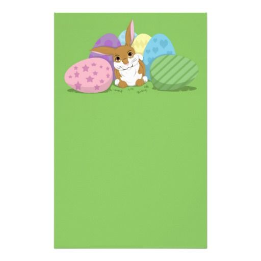 #easter #bunny #eggs #spring #stationary
