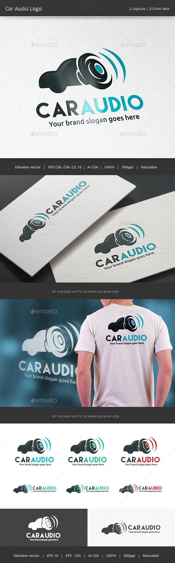 Car Audio  Logo Design Template Vector #logotype Download it here: http://graphicriver.net/item/car-audio-logo/15245613?s_rank=90?ref=nesto