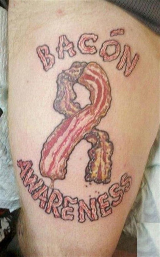 epic bacon tattoo!