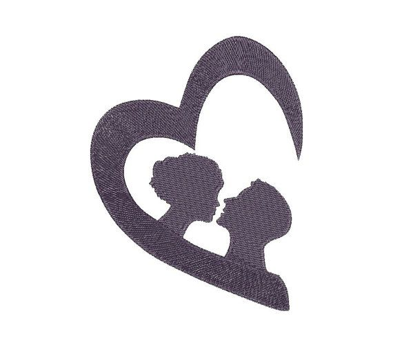 Hearts, Love, Valentine - Machine Embroidery Design - Instant Download - Three sizes