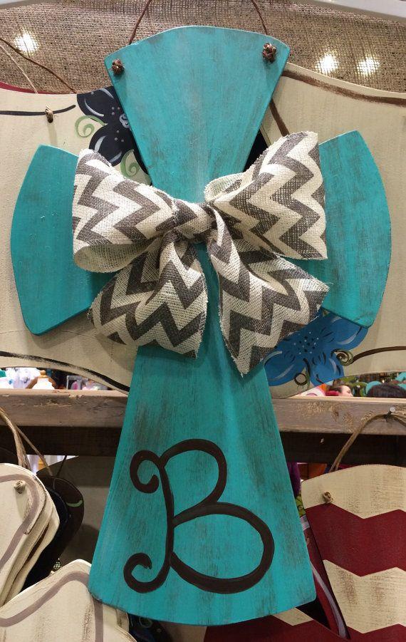 Cross Door Hanger Spring Door Hanger Easter Door by SassySouthArt
