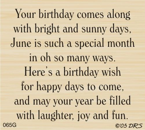 DRS Designs - June Birthday Greeting, $10.00 (http://www.drsdesigns.com/june-birthday-greeting/)