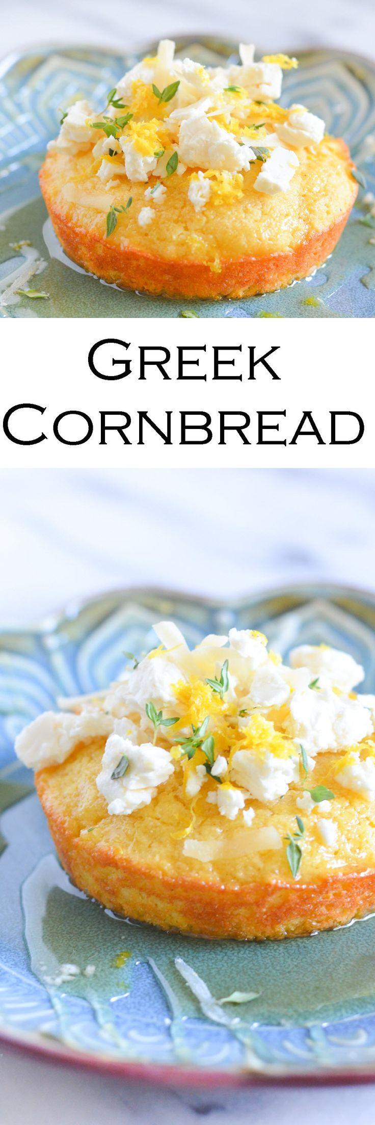 Greek Cornbread w. Honey, Feta, + Lemon #foodblogger #lucismorsels #cornbread #honey #feta #lemon
