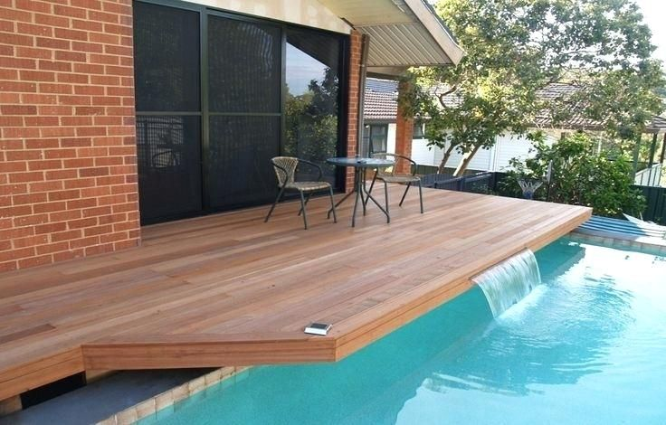 Pin By Paul Floyd On Backyard Wood Pool Deck Above Ground Pool Decks Backyard Pool Landscaping