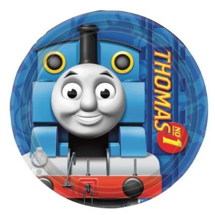 Amscan 23 cm Thomas Tank paper Plate: Amazon.co.uk: Kitchen & Home