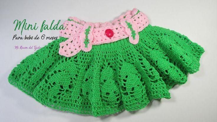 Crochet paso a paso:  Mini falda para bebé de 6 a 9 meses - Mi Rincón de...