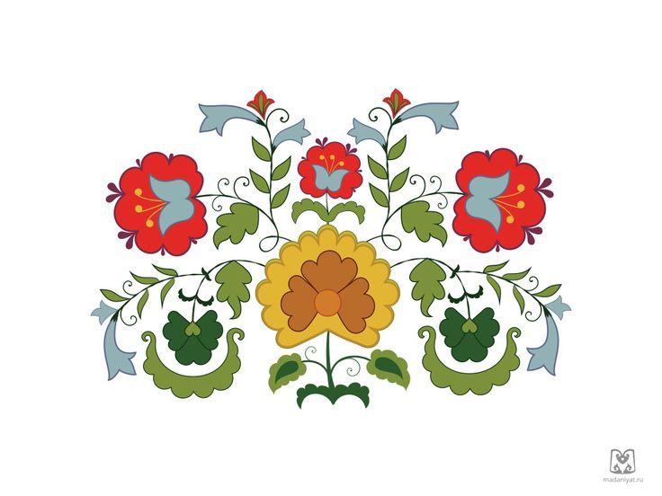 Traditional Tatar ornament