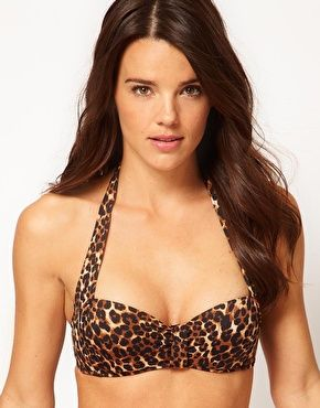 ASOS Halter Leopard Print Bikini Top getting ready for summer...its dec .