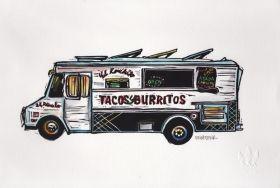 Truck I Linocut Eric Rewitzer