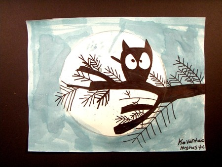 owl silhouettesArt Lessons, Art Museums, Branches Silhouettes, Artsonia Art, Art Ideas, Cartoons Owls Thy, Art Silhouettes, Art Projects, Owls Silhouettesno