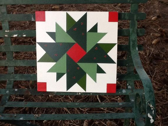 12 X 12 Mini Barn Quilt Christmas Wreath Who Painted