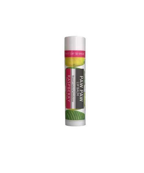 Paw Paw Lip Balm - Raspberry- Paw Paw Lip Balm's natural formula is rich in Paw Paw with the added nourishment of Shea Butter, Honey, Vitamin E & Almond Oil with a hint of delicious Raspberry. Moisturise and protect lips, leaving them luxuriously soft. The petrochemical-free formula is gentle on sensitive lips and is ideal to use by itself.