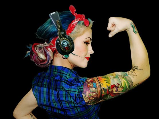 Headphones with attachable pendants - Green Zombie - Limited Edition  http://noddders.com/product/rockabilly-headphones/