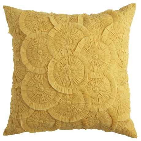 Cartwheel Cushion 45x45cm Mustard texture is appealing not so much the colour