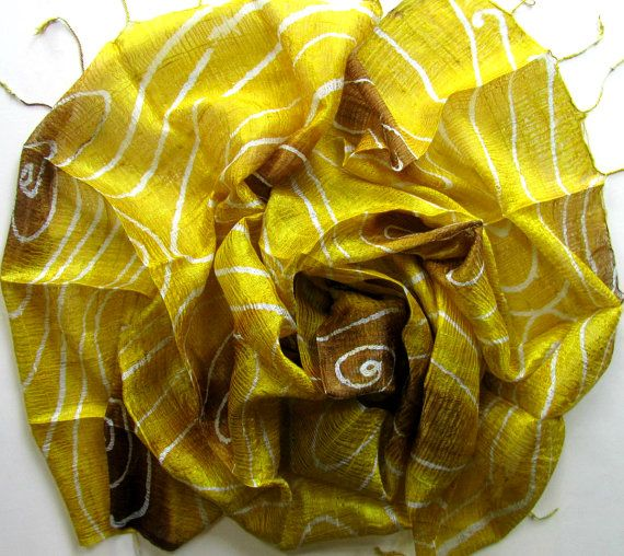 Silk shawl-Handwoven-Hand dyed-Batik-Light weight silk shawl-Wedding gift-Wedding accessories-Thai raw silk-Natural silk-Handmade silk shawl
