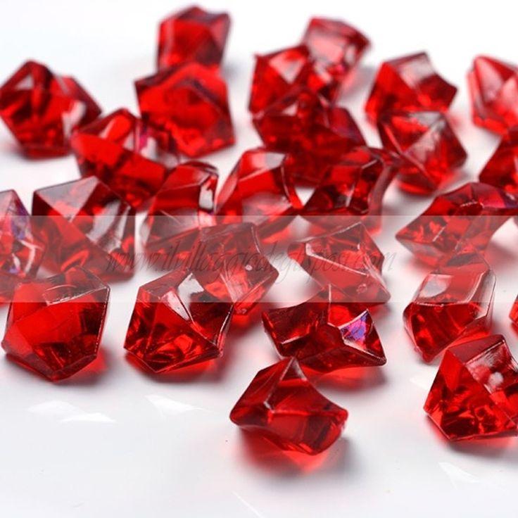 Cristalli di ghiaccio rossi/ Red Crystals. Disponibili su http://www.ilvillaggiodeglisposi.com/
