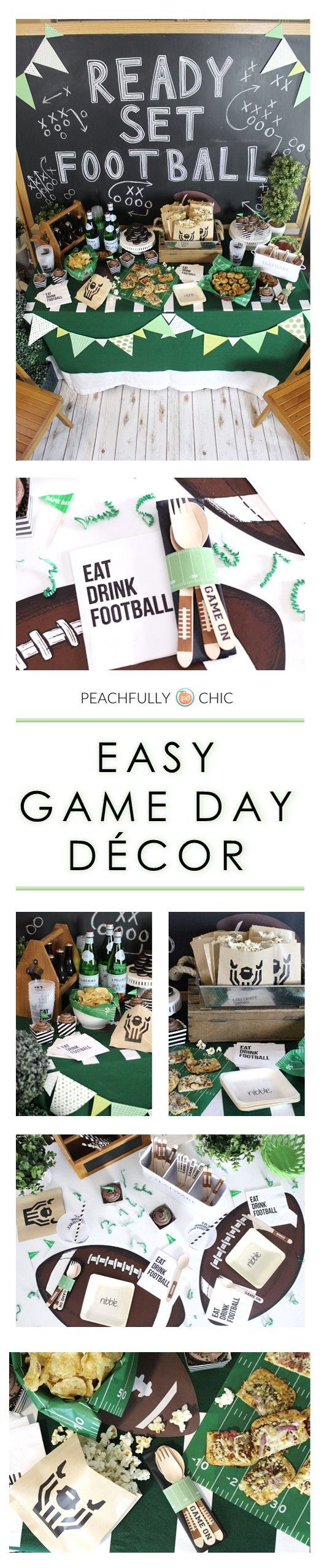 Easy Football Game Day Decor:  Draft Party Inspiration & Tailgate Essentials