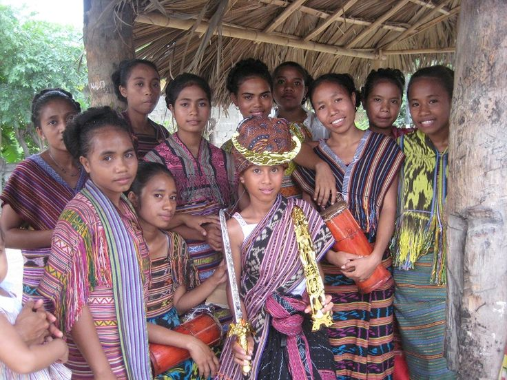 Children in traditional costume, East Timor