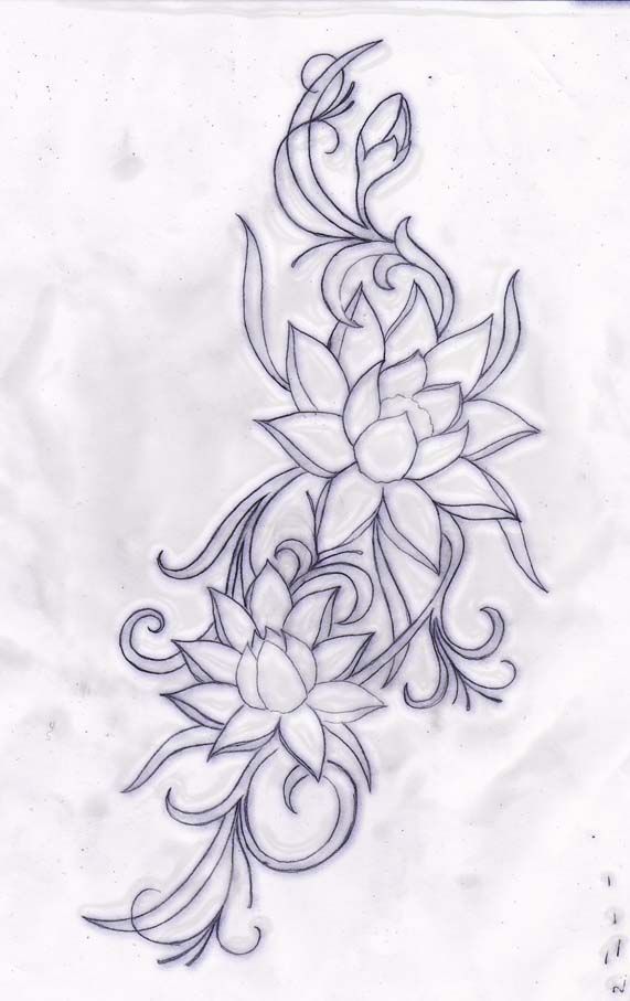 water lilly tribal by primitive-art