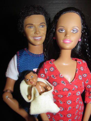 Happy Family African American Midge Alan Baby Barbie