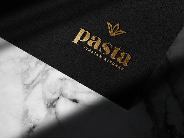 Download Luxury Embossed Gold Logo Mockup On Black Paper For Free Logo Mockup Luxury Logo Black Paper
