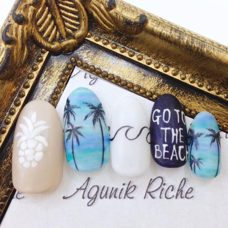 Beach nail stamping ides