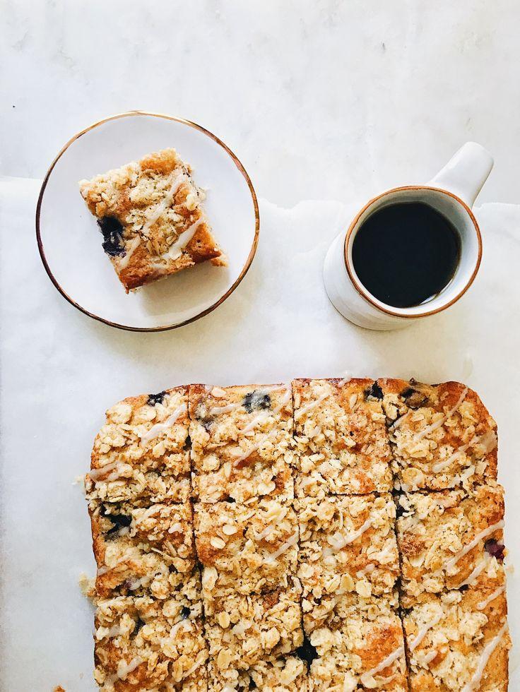 blueberry oat breakfast cake | petit bakes