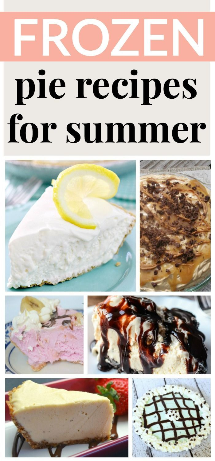 These FROZEN PIE RECIPES are the perfect summer dessert.  They will keep your house AND guests cool.