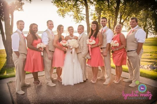 Coral and guava wedding...possible tux color besides black?