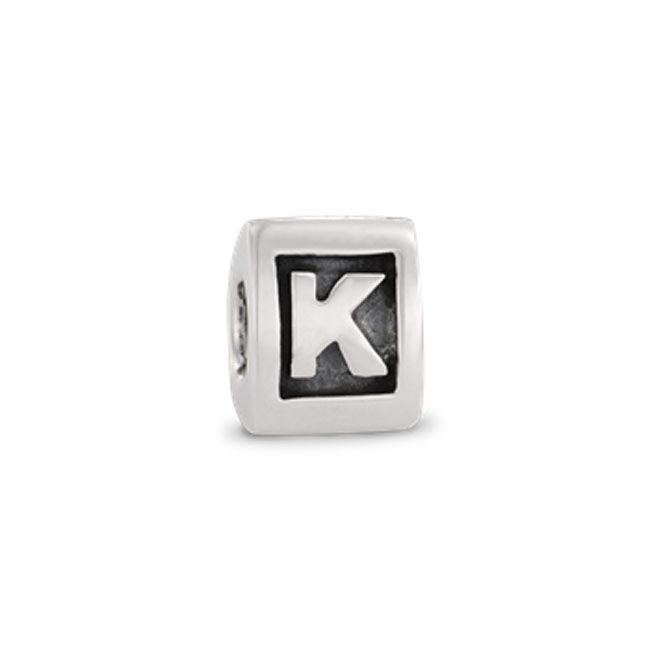 Pandora silver letter k jewelry pinterest letter k for Pandora letter charms price