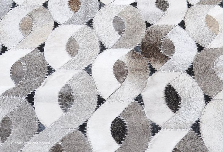 Pavo Rug (texture close up), a luxury cowhide leather rug in shades of cream, grey, black & brown http://www.therugswarehouse.co.uk/pavo-rug.html #rugs #interiors #luxury