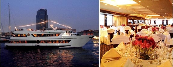 AllAboardYachtCharters.com / The Royal Princess Yacht: Tie The Knot On Our Private Yacht! Weehawken, NJ. More info: http://www.njwedding.com/vendorDisplay.cfm?vendorid=7470 #Weddings #Cruises #Yachts