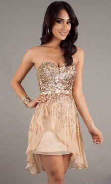 Gold color formal dress