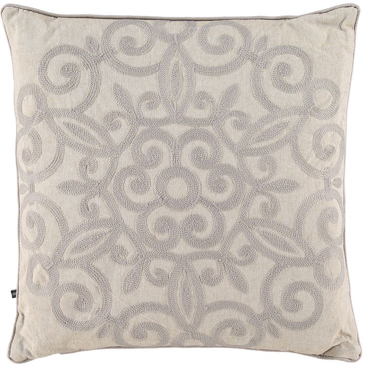 """Rodeo Home"" Beige Embroidered Patterned Cushion - TK Maxx"
