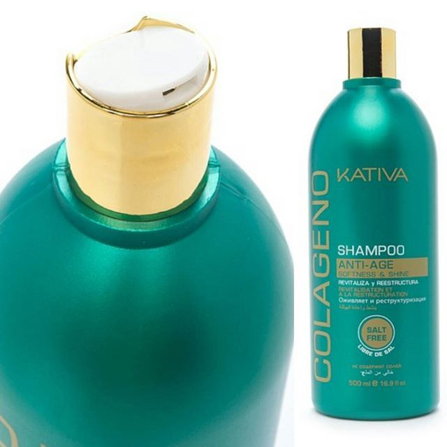 Kativa Colageno Anti-Age Shampoo Περιγραφή Είναι ένα προϊόν εμπλουτισμένο με κολλαγόνο, το οποίο καθαρίζει σε βάθος και αποκαθιστά τα μαλλιά από τη ρίζα ως τις άκρες για πιο ισχυρά και πιο λαμπερά. Τα προστατεύει από την ξηρότητα και την τριχόπτωση καθώς τα δυναμώνει. Δράση: Η λεπτή και ελαφριά υφή του σαμπουάν κολλαγόνου καθαρίζει σε βάθος, ενυδατώνει την επιφάνεια του δέρματος και θρέφει τα θυλάκια της τρίχας με τα αμινοξέα του κολλαγόνου.