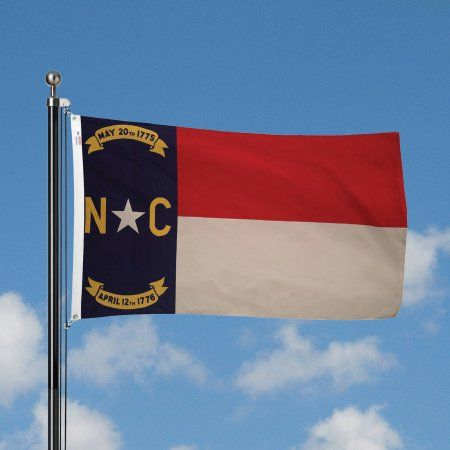 Betsy Flags 3' x 5' Nylon North Carolina State Flag, Multicolor