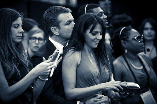 gnanon:  Matt Damon and his wife at the Oscar's 28/02/2016