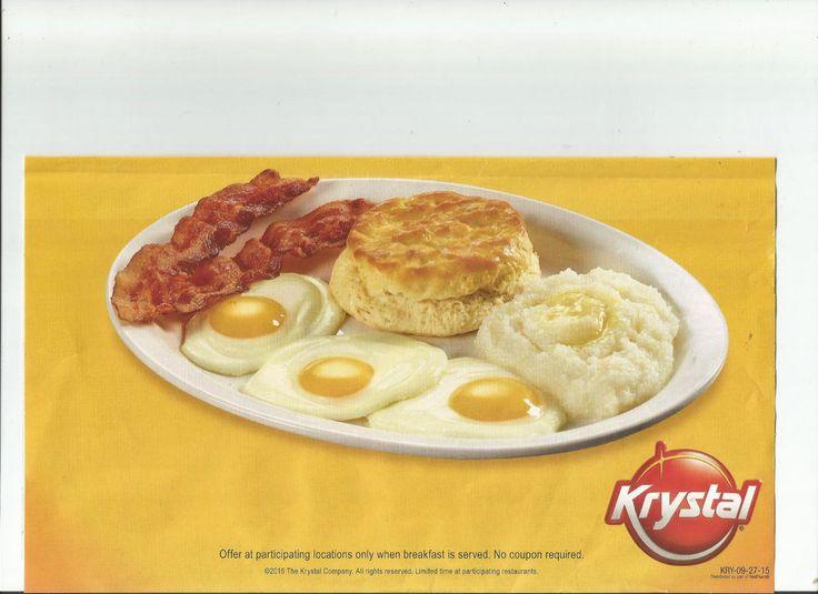 1 Set Krystal Restaurant Coupons  Exp 10/25/15  **FAST SHIPPING** KRYSTAL  #KRYSTAL