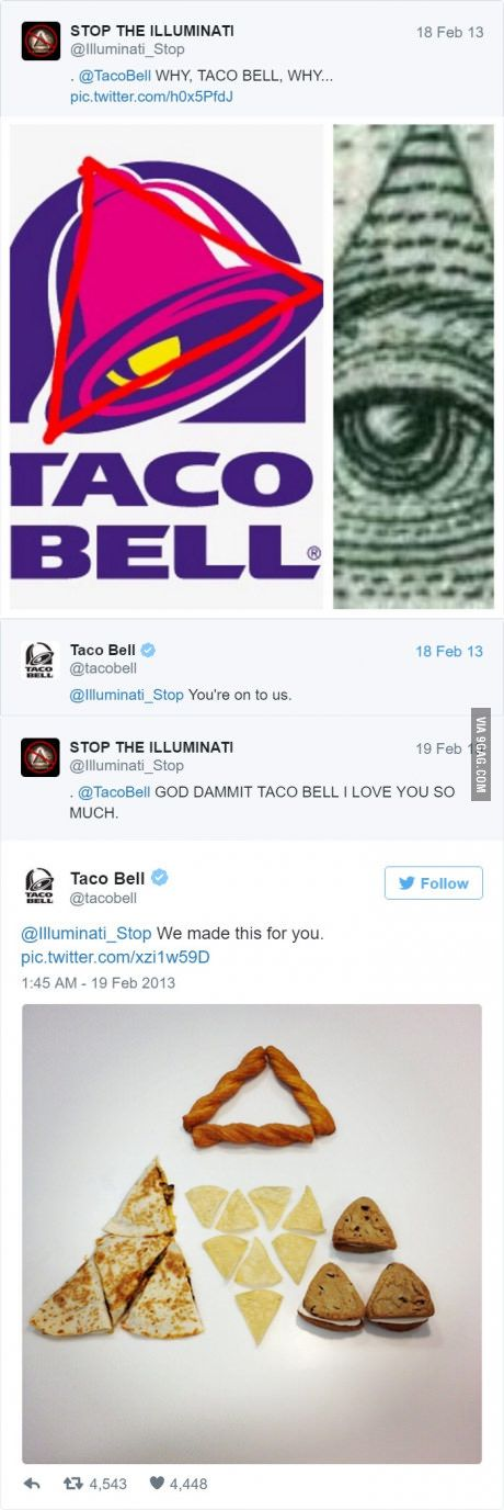 Taco bell's twitter is f**kin awesome