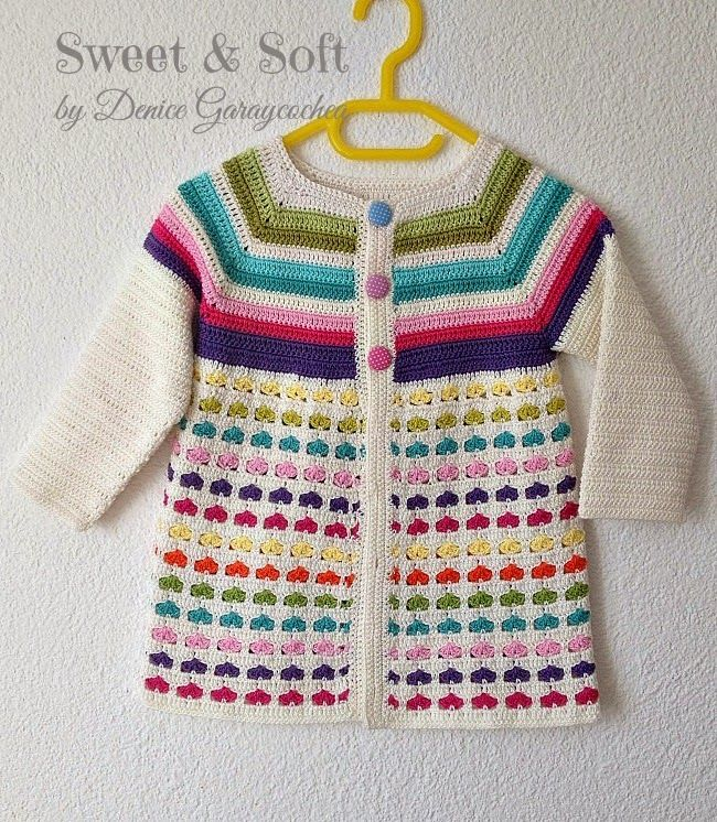 Sweet & Soft: Cadigan FOR GIRL size 2-3 graph pattern with some written directions