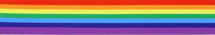 PR.044 - Rainbow Stripe Grosgrain Printed Ribbon