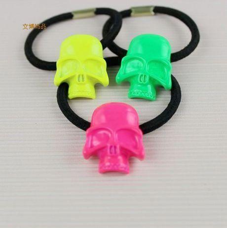 Flourescent skull barrett pendant great for diy phone bling | chriszcoolstuff - Craft Supplies on ArtFire